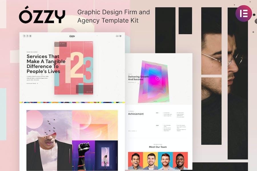 Ozzy - Template Kit de empresa y agencia de diseño gráfico