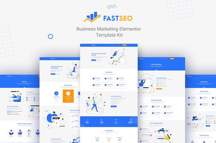 FastSEO - Business Marketing Elementor Template Kit