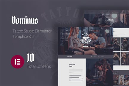 Dominus - Tatuaje Studio Elementor Template Kits