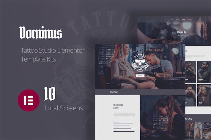 Dominus - Tattoo Studio Elementor Template Kits