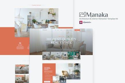 Manaka - Architecture & Interior Elementor Template Kit