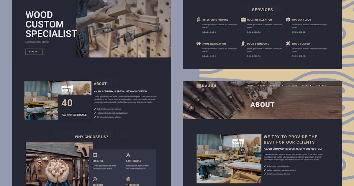 Download Kajuh - Carpenter Elementor Template kit by aStylers
