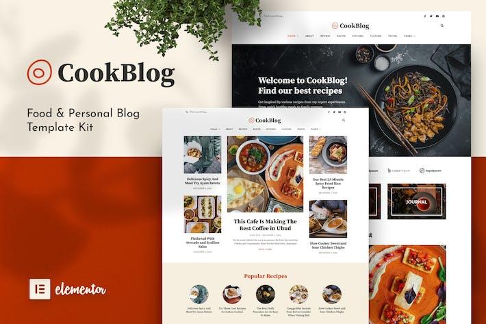 CookBlog — Food & Personal Blog Elementor Template Kit