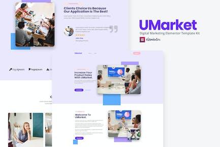 UMarket - Template Kit de Elementor de Marketing Digital