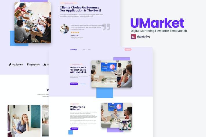 UMarket - Digital Marketing Elementor Template Kit