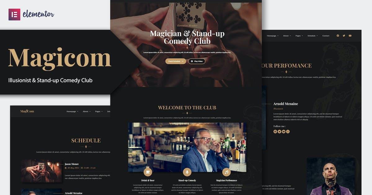 Download Magicom - Magician & Comedian Club Elementor Template Kit by Rometheme