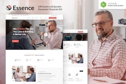 Essence – Life Coach & Speaker Elementor Template Kit