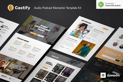 Castify – Audio Podcast Elementor Template Kit