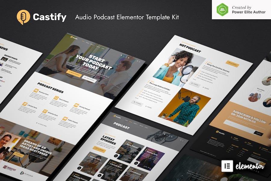 Castify - Template Kit de elementor de podcast de Audio