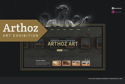 Arthoz - Art Exhibition Elementor Template kit