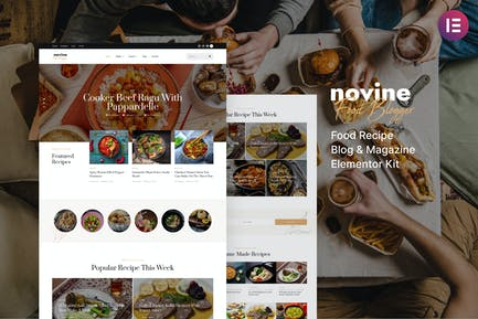 Novine – Food Recipe Blog & Magazine Template Kit