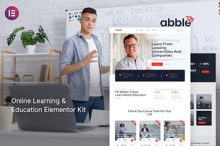 Abble - Online Learning & Education Elementor Kit