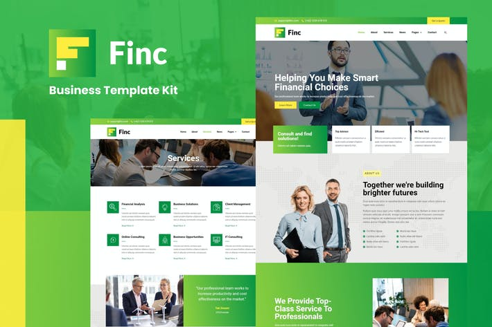 Finc - Template Kit für Business & Financial Elementor