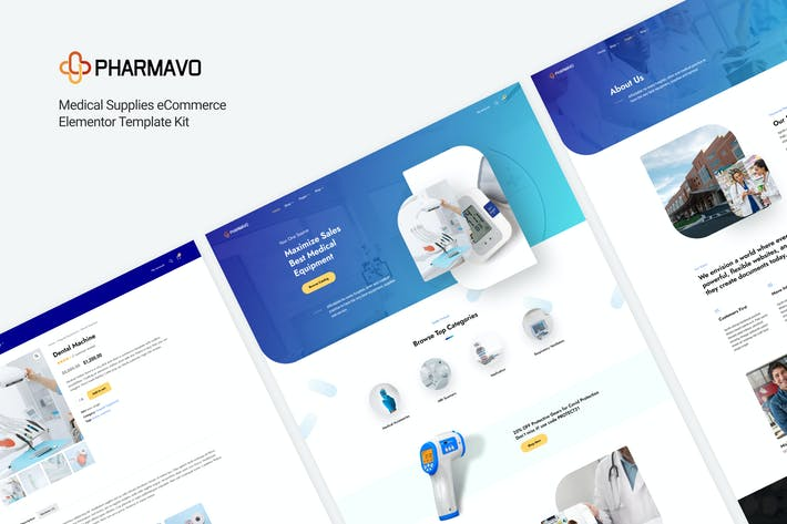 Pharmavo | Medical Supplies eCommerce Elementor Template Kit