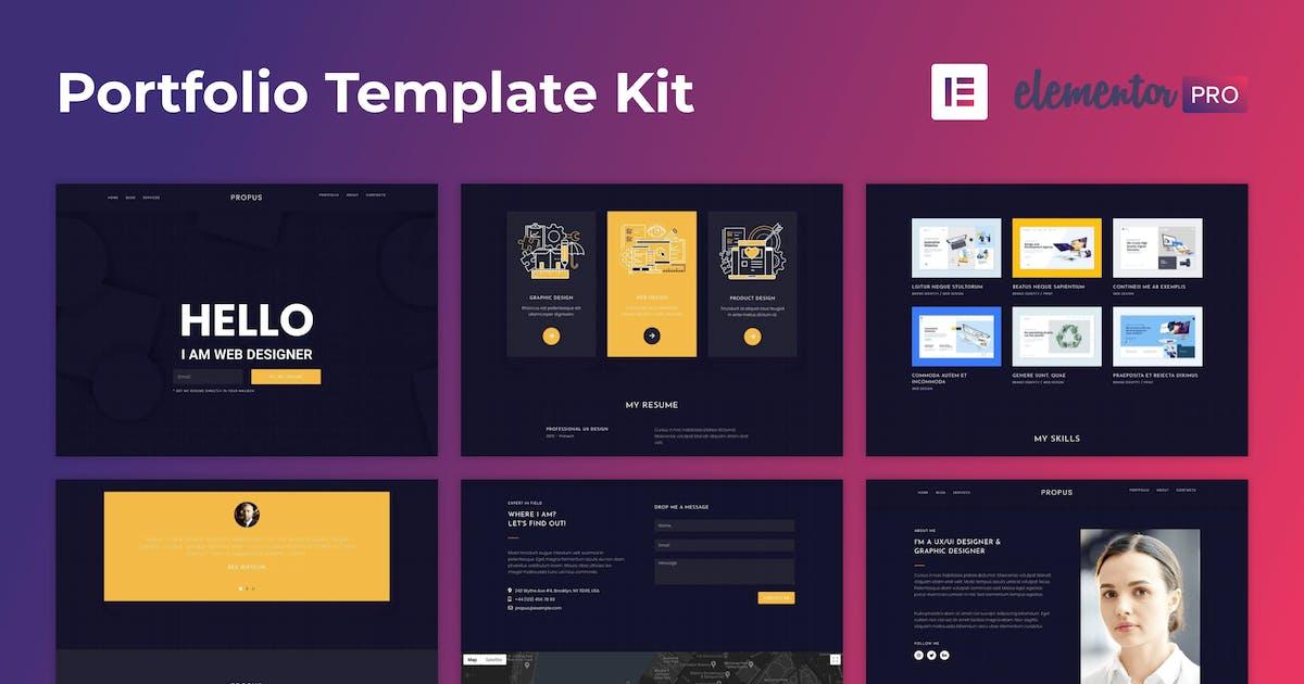 Download Propus — Web Designer Portfolio Elementor Template Kit by nelly-k