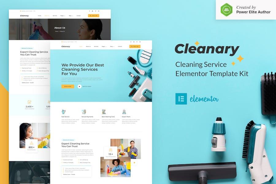 Cleanary - Limpieza de la empresa de servicios de limpieza Elementor Kit