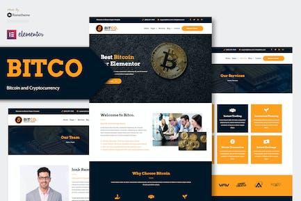 Bitco - Bitcoin & Kryptowährung Elementor Template Kit