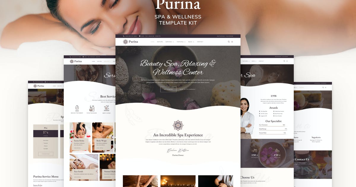 Download Purina - Spa & Wellness Elementor Template Kit by jegtheme