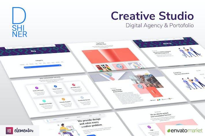 D'Shiner Creative Studio & Digital Agency Elementor Template Kit