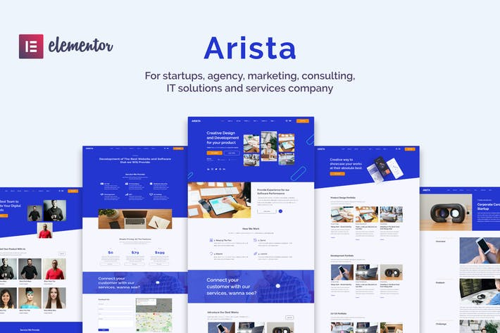 Arista - Multipurpose Business Elementor Template Kit