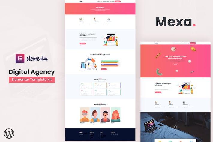 Mexa - Digital Agency Elementor Template Kit