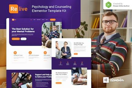 Revive - Template Kit Elementor de Psicología y Consejería