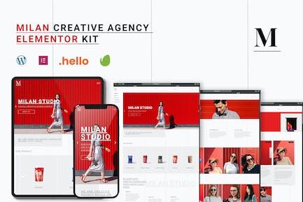 Milan - Creative Agency Elementor Template Kit