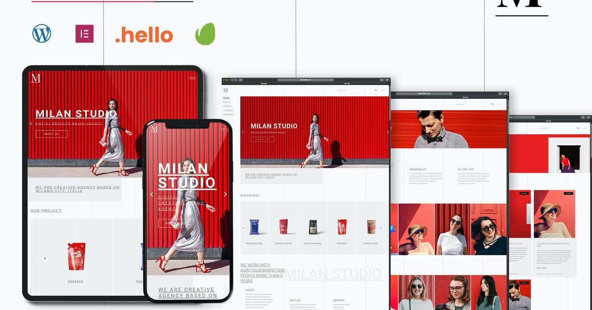 Download Milan - Creative Agency Elementor Template Kit by CocoTemplates