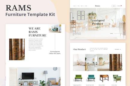 Béliers - Meubles eCommerce Elementor Template Kit