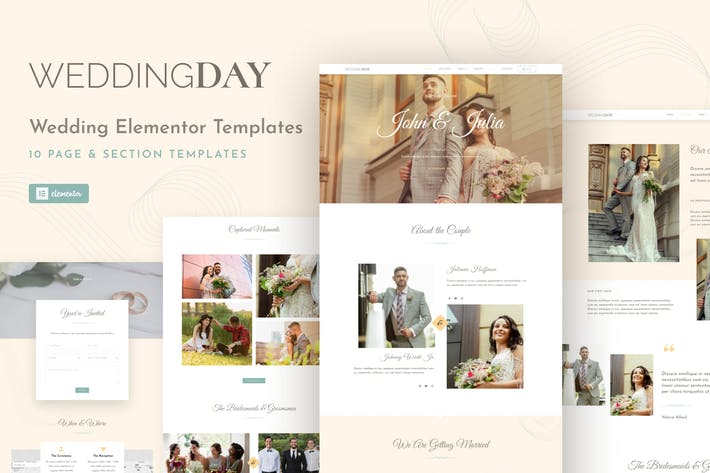 WeddingKit - Invite & Gallery Event Elementor Template Kit