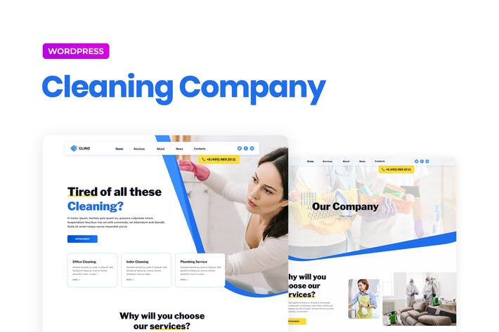 Clino – Cleaning Business Elementor Template Kit