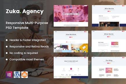 Zuka-Agency | Creative Portfolio & Agency Template Kit