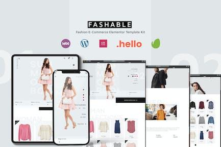 Fashable - Stylist eCommerce Elementor Template Kit