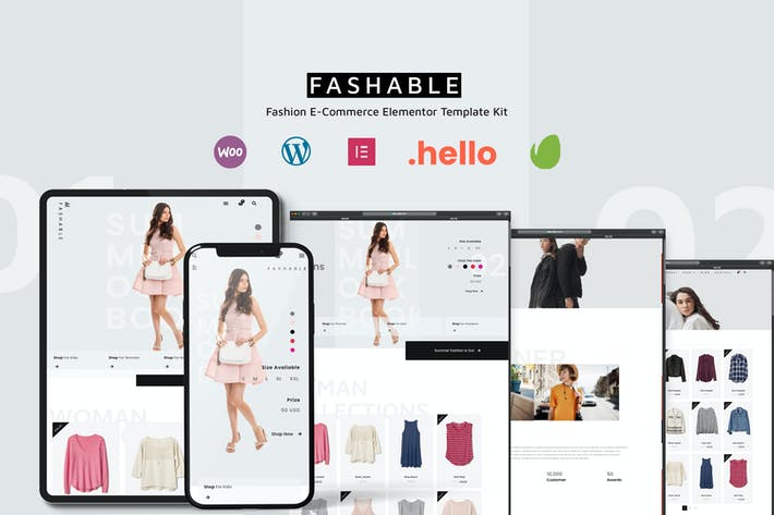 Fashable - Stylist eCommerce Elementor Template Kit