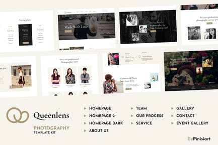 Queenlens | Photography & Event Elementor Template Kit