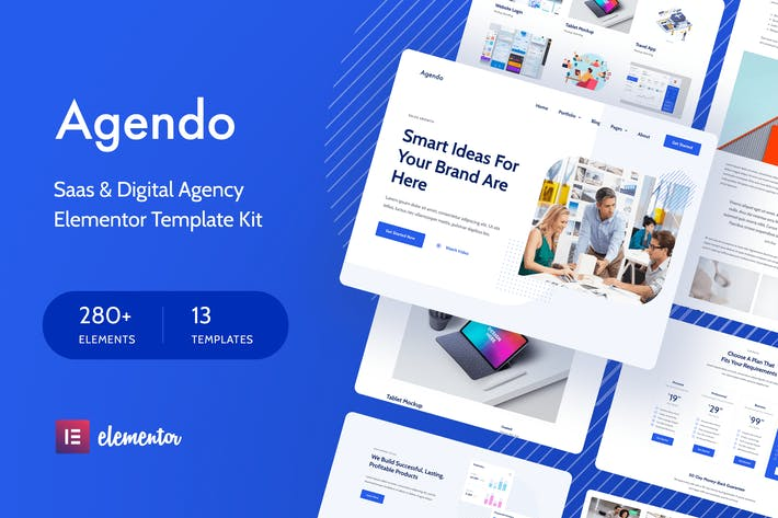 Agendo - Digital Agency & Creative Elementor Template Kit