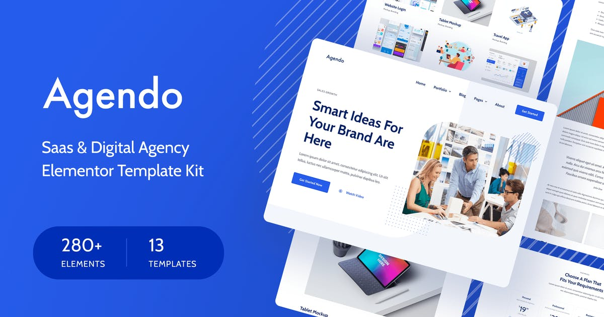 Download Agendo - Digital Agency & Creative Elementor Template Kit by Pixelshow