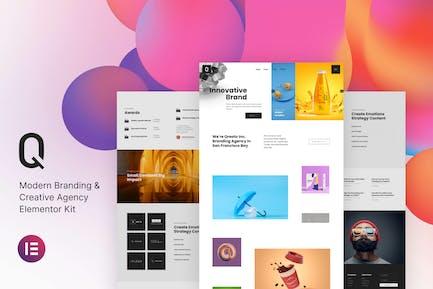 Qreato — Modernes Branding & Kreativagentur Elementor Kit