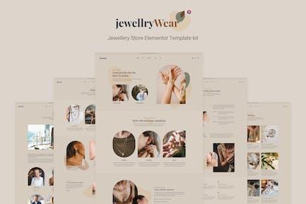JewellryWear - Joyería Elementor Plantilla Kit