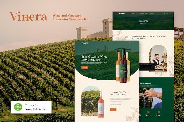 Vinera — Weingut & Weinberg Elementor Template Kit