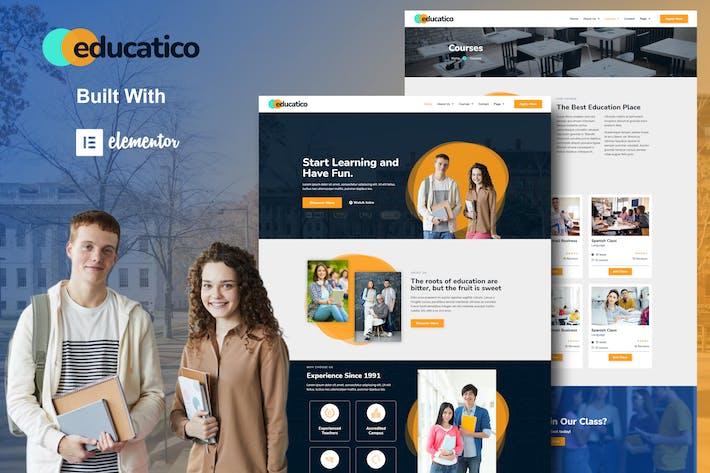 Educatico - Education School & Online Courses Elementor Template Kit
