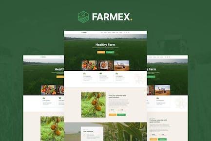 Farmex - Agriculture & Farm Elementor Template Kit