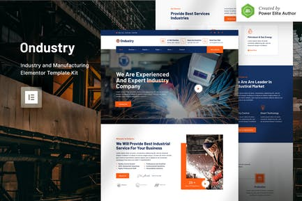 Ondustry – Industry & Manufacturing Elementor Template Kit