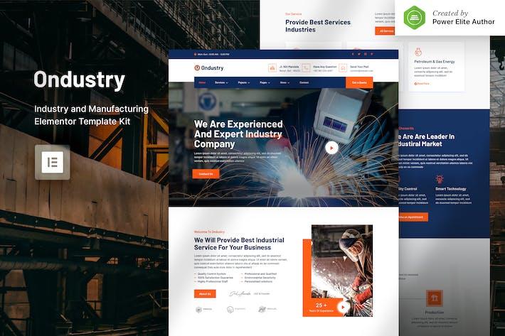 Ondustry - Industrie & Fertigung Elementor Template Kit