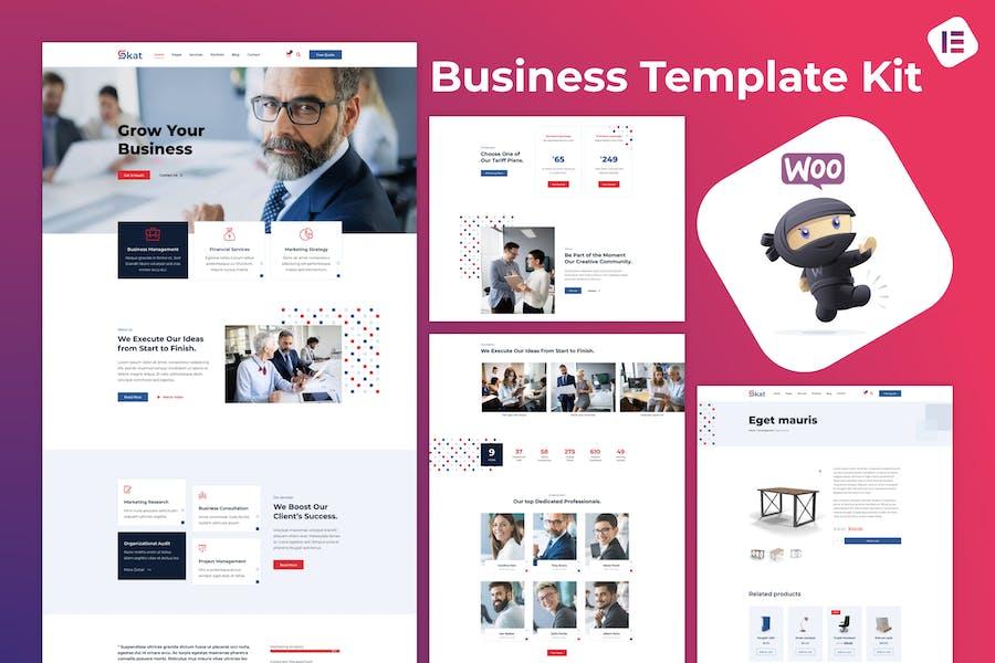 Skat — Unternehmens- & Business Elementor Template Kit