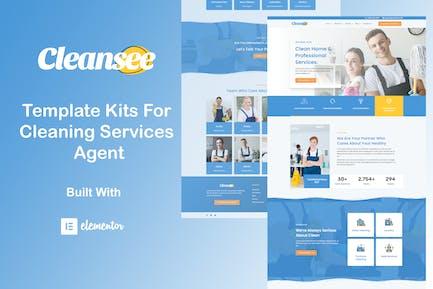 Cleansee - Template Kit de elementos de servicio de limpieza