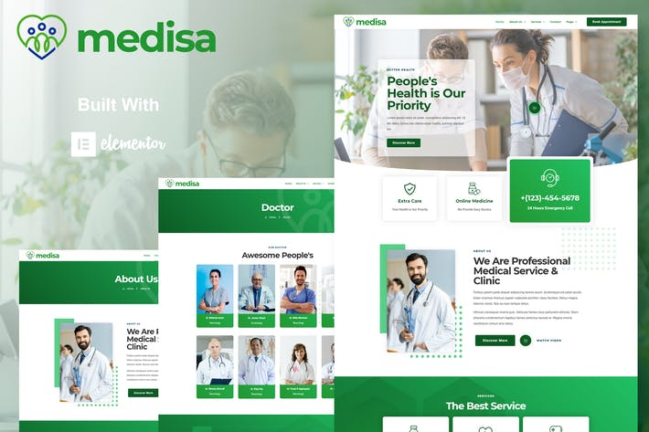Medisa - Medical Elementor Template Kit