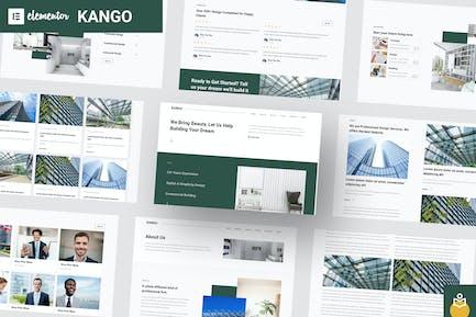 Kango - Architecture Elementor Template Kits