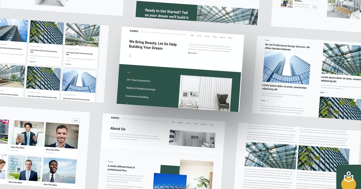 Download Kango - Architecture Elementor Template Kits by YumnaStudio