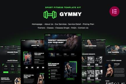 Gymmy | Sport & Fitness Elementor Template Kit